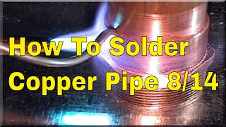 How To Solder Copper Pipe And Repipe Home Part 8