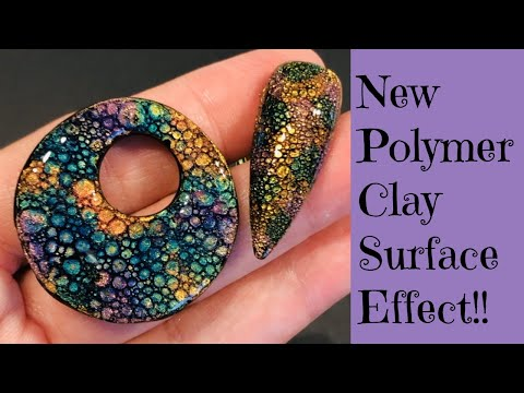 New Polymer Clay Surface Technique Create Unique Small Cells Cabochons Bubble Nails Effect Tutorial