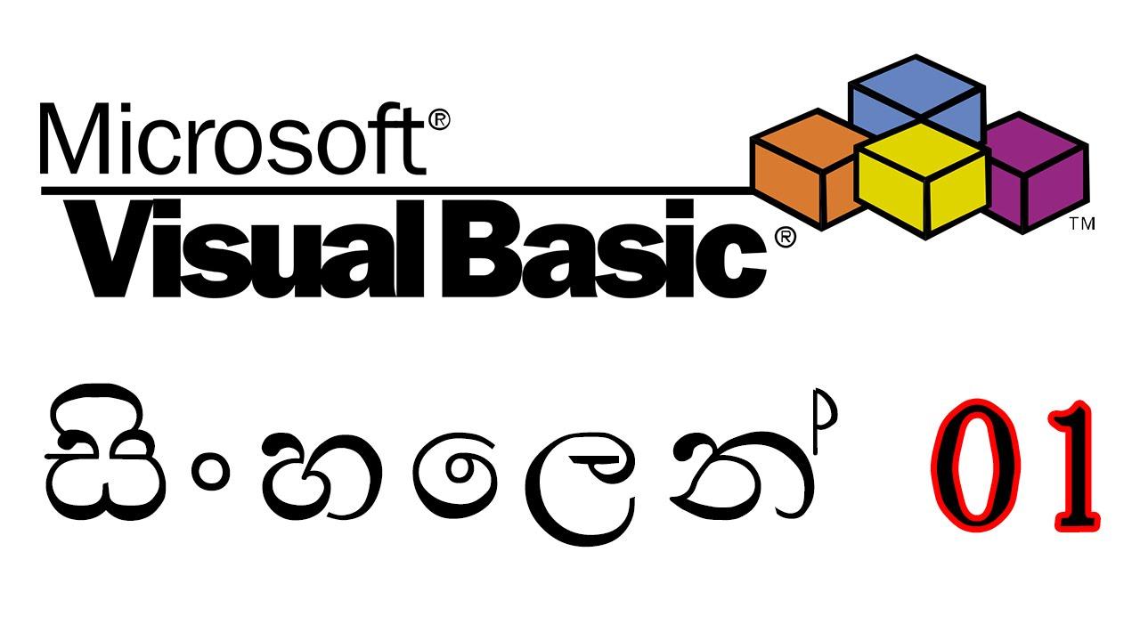 Learn Visual Basic in Sinhala 1 | සිංහලෙන්