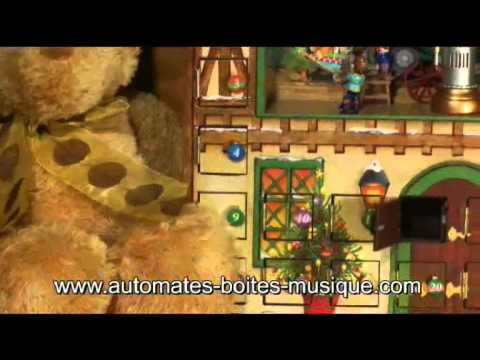 Mr Christmas musical advent calendar with automatons