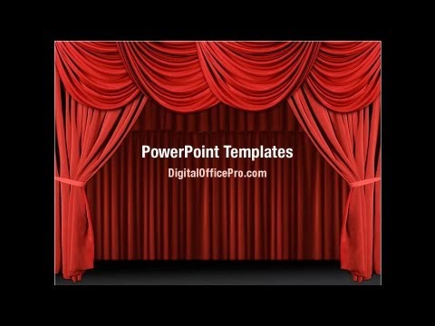 Red Curtain PowerPoint Template Backgrounds - DigitalOfficePro