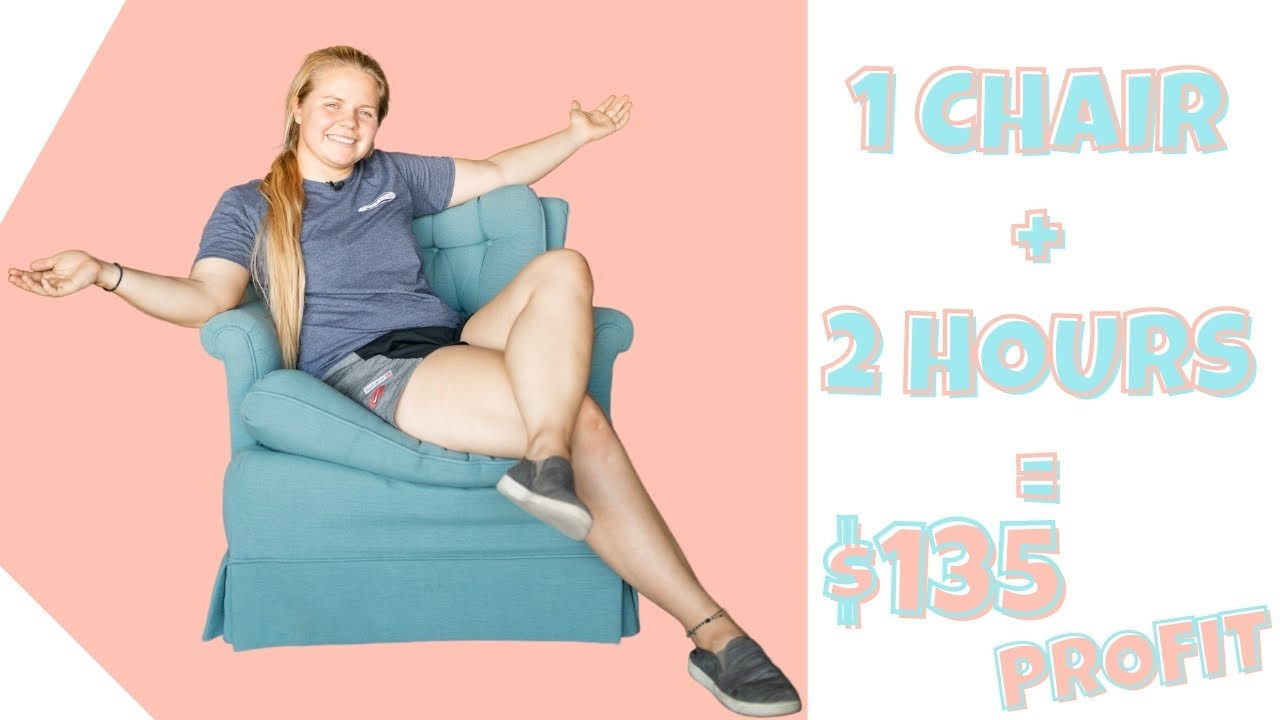 Thrift Flip | Chair Skirt Removal + Cleaning = $135 PROFIT