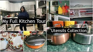 Indian (NRI) Full Kitchen Tour | Indian Utensils Collection  | Simple Living Wise Thinking