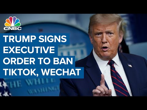 Trump effectively bans TikTok, WeChat with executive orders
