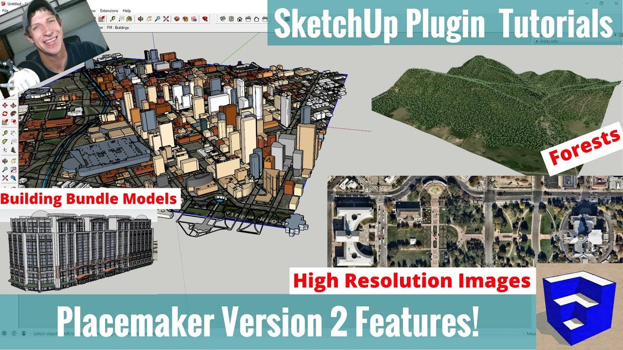 Placemaker for SketchUp Version 2 New Features - Forests,High