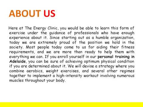 Personal well being training in Adelaide
