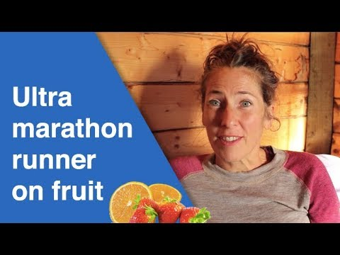 Ultra marathon runner on fruit with crazy energy