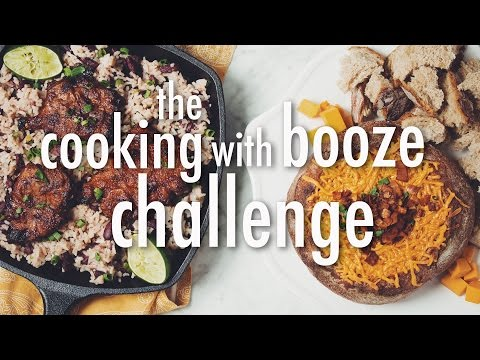 THE COOKING WITH BOOZE CHALLENGE (VEGAN)   hot for food