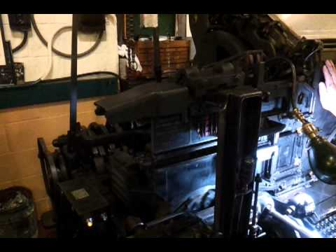 Linotype Machine in Baltimore Museum of Industry