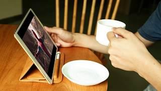 "JISONCASE Luxury Leather Folio Case for iPad Pro 10.5"" with Pencil Slot Holder"