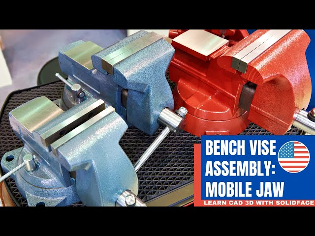 Learn CAD 3D with SolidFace - Bench Vise: Mobile Jaw