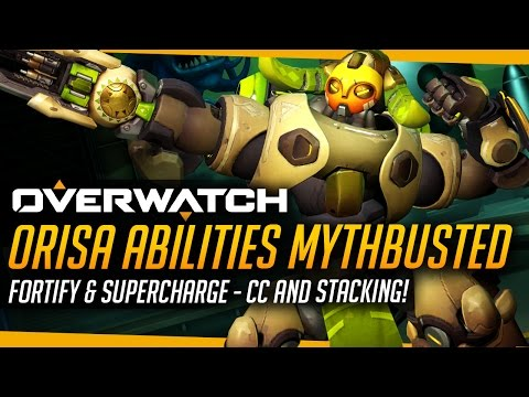 Thumbnail: Overwatch | ORISA ABILITIES MYTHBUSTED - Fortify & Supercharge Tested!