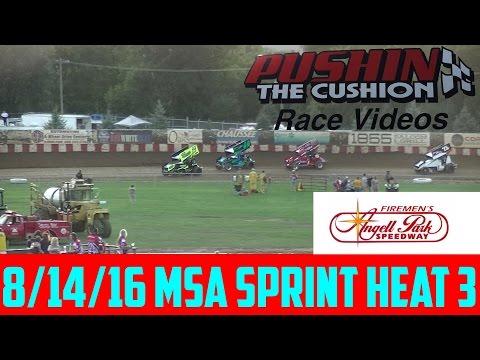 8/14/16 Angell Park Speedway MSA Sprint Heat 3