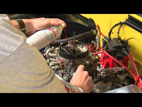 How to clean a gasoline carburetor upper engine (air intake