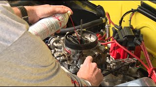 How to clean a gasoline carburetor upper engine (air intake) using Sea Foam Spray