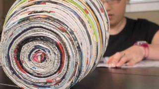 How to Make a Vase out of Magazines