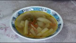 Суп с зеленым горошком. Гороховый суп из зеленого горошка.