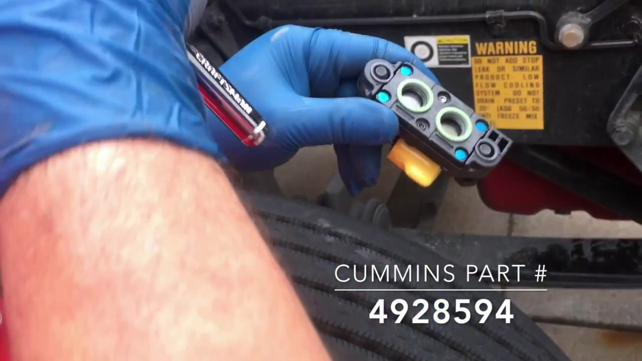 2016 Cummins ISX cm2350 EGR Differential Pressure (Delta P) Sensor  Replacement