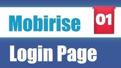 Login Seite erstellen [deutsch] | Mobirise Extension