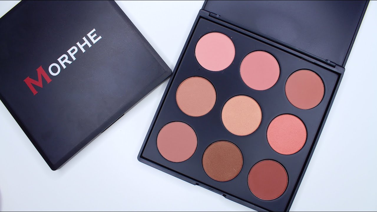 Morphe 9n The Naturally Blush Palette Swatches