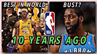 The NBA 10 Years Ago