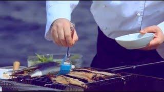 Рыба на мангале, фаршированная овощами - Уриэль Штерн