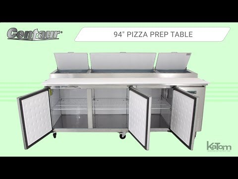 Centaur 3-Section Pizza Prep Table (842-CPR93)