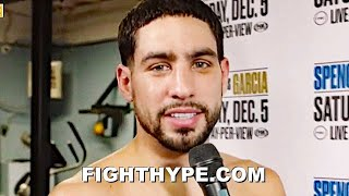 "DANNY GARCIA SENDS ERROL SPENCE ""HARDEST HITTER"" WARNING; CHIP ON HIS SHOULDER FOR ""RIVALRY"" CLASH"