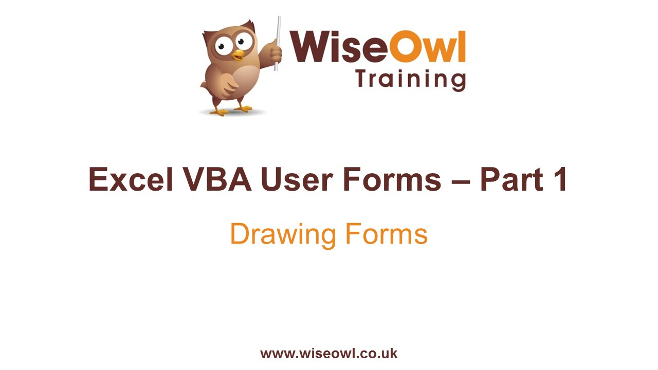 Excel VBA Forms Part 1 - Drawing Forms