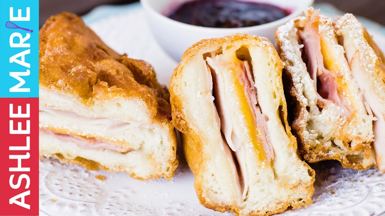 How To Make A Deep Fried Monte Cristo Sandwich Monte Cristo Sandwich Fair Food Recipes Sandwiches