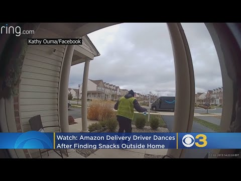 Robin Rock - Check out this Amazon driver's reaction to treats left for him!