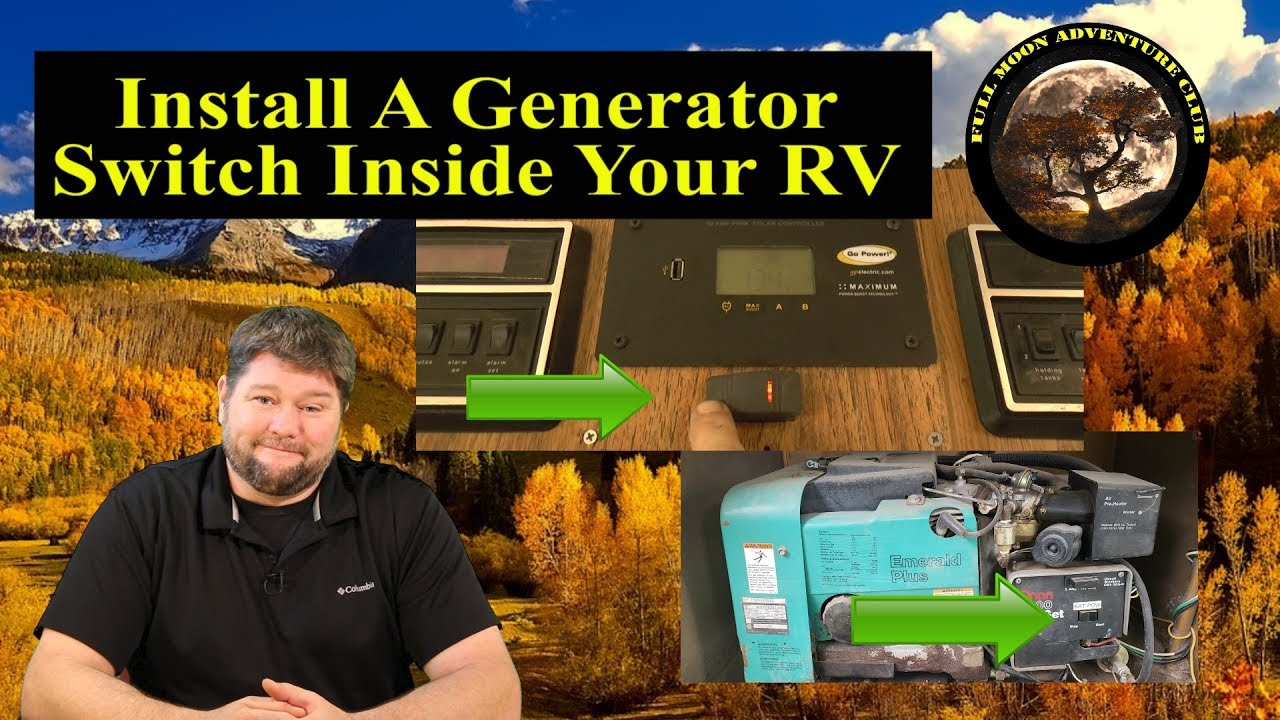add a generator switch inside your rv cummins onan 4000 watt generator switch install [ 1280 x 720 Pixel ]