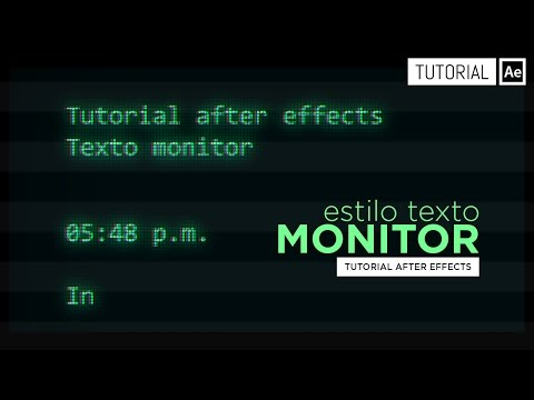 Monitor text style type-on - After Effects Tutorial