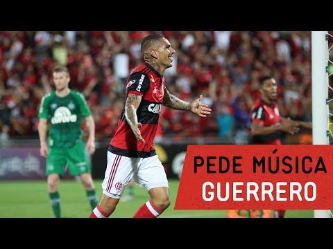 Guerrero faz três gols e pede música na FLA TV