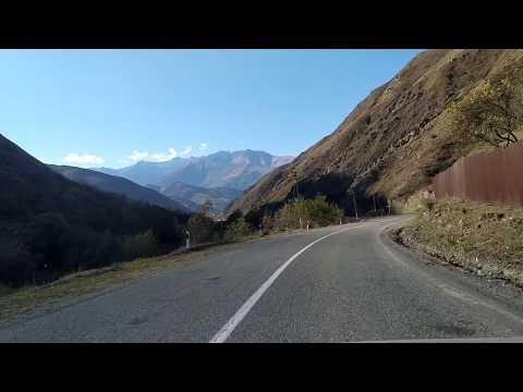 Дорога в Итум-Кали за селом Чинах | октябрь 2019, туризм в Чечне