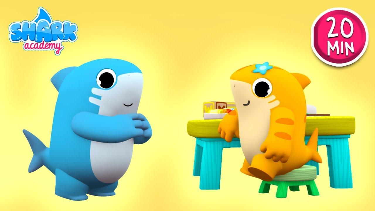 Shark Academy - Fruits and vegetables - Baby Shark Nursery Rhymes for Children