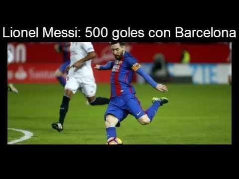 Lionel Messi 500 goles con Barcelona