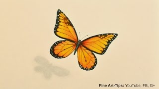 How to Draw a Monarch Butterfly With Markers and Color Pencils