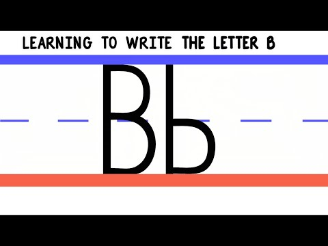 Write the Letter B - ABC Writing for Kids - Alphabet Handwriting by 123ABCtv