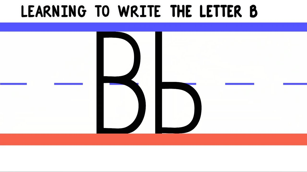 Write The Letter B  Abc Writing For Kids  Alphabet Handwriting By