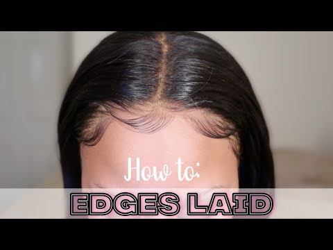 EDGES : HOW TO LAY GLUELESS FRONTAL BABY HAIR WITH NO GEL OR GLUE