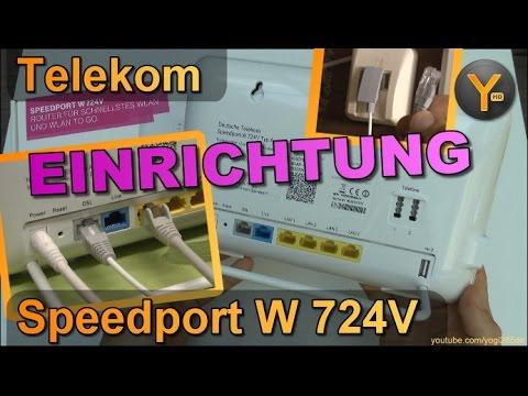 Verkabelung Einrichtung Telekom Speedport W724v Am Ip Anschluss Mit V Dsl Telefon Wlan Youtube