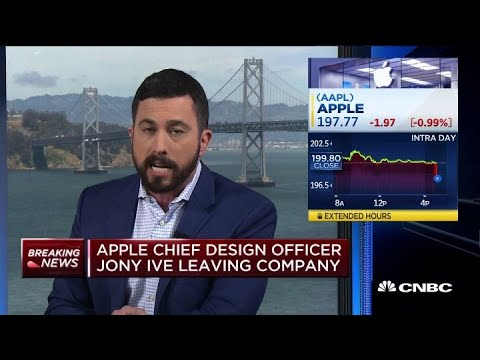 Apple's Chief Design Officer Jony Ive leaving company