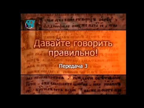 Русский язык. Передача 3. Русский литературный язык и его стили