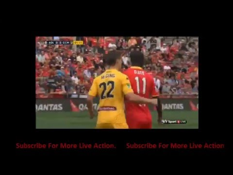 Adelaide United vs Central Coast Mariners 2-1 First Half Com