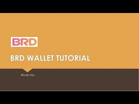 BRD Wallet Tutorial