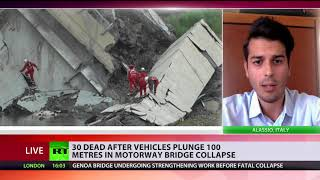 \'Concrete was probably cracked, winds worsen it\' – civil engineer on Genoa bridge collapse
