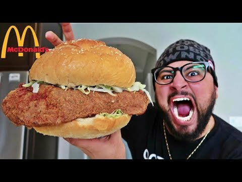 DIY GIANT McDONALD'S MCCHICKEN!!