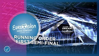 RUNNING ORDER The First Semi-Final of the 2019 Eurovision Song Contest