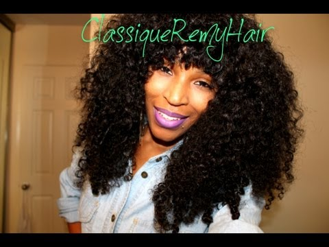 Classique Remy Kinky Curly Hair! - YouTube